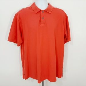 Tommy Bahama Men's Polo Shirt Size XL Salmon RV18